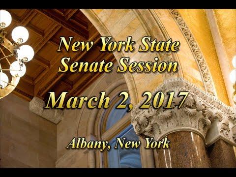 New York State Senate Session - 03/02/17