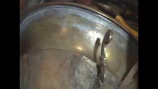 Ремонт трещины в теле самовара при помощи твердого припоя