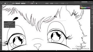Adobe Illustrator. Создание персонажных иллюстраций. Урок 2.Детали контура и глаза.(Борис Поташник)