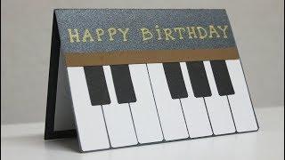 Greeting Cards Latest Design Handmade - Birthday Card for Music Teacher