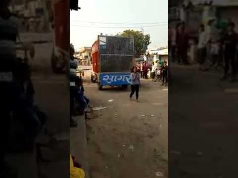 Drunk girl dancing in front of her boyfriend house