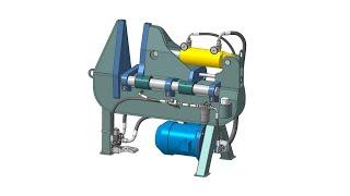 Станок для производства витков шнека Обзор 3D-модели