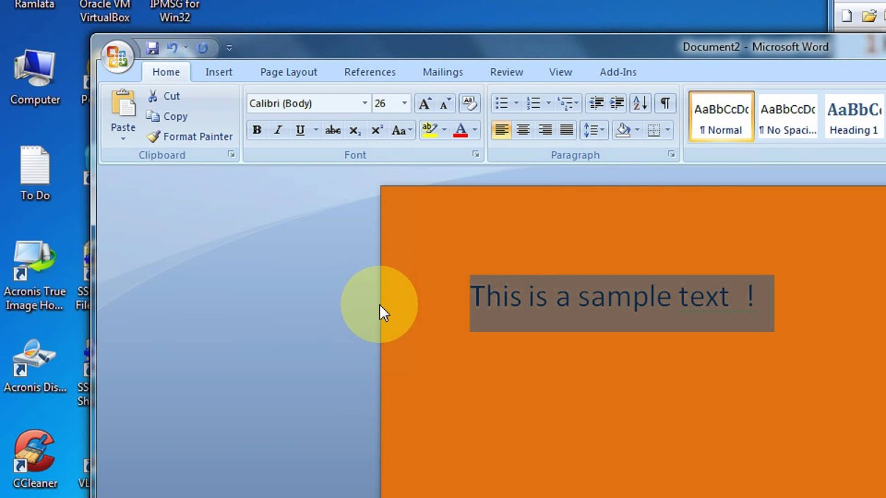 Microsoft Word Page Background Color Not Printing