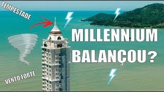 Millennium Palace Balançando com o vento forte em Balneário Camboriú - JC Drones thumbnail