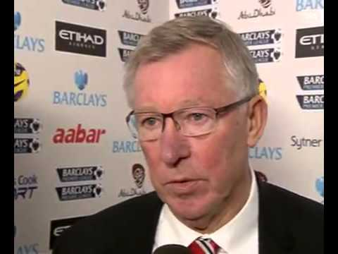 Sir Alex Ferguson's reaction after Man United beat Man City 3.2.