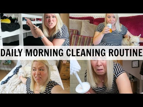 REALISTIC DAILY MORNING CLEANING ROUTINE OF A MUM!