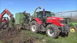 "Pth 900-820 G ""orchard Version"" Pezzolato Drum Wood Chipper At Work With Massey Ferguson 260 Hp"