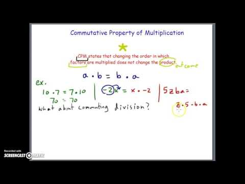Commutative Properties of + and * Part I