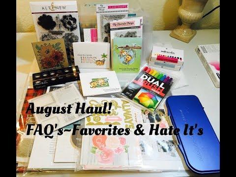 August Haul~Tombow Dual Brush Pens, CTMH |  FAQ CTMH Favorite & Hate It's
