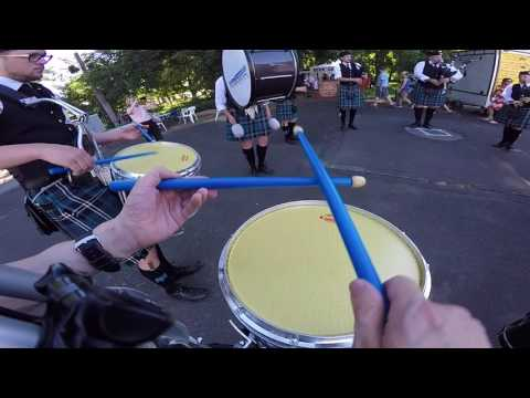 Columbia Regional Pipe Band - Athena 2017 - Set 1 - DrummerCam
