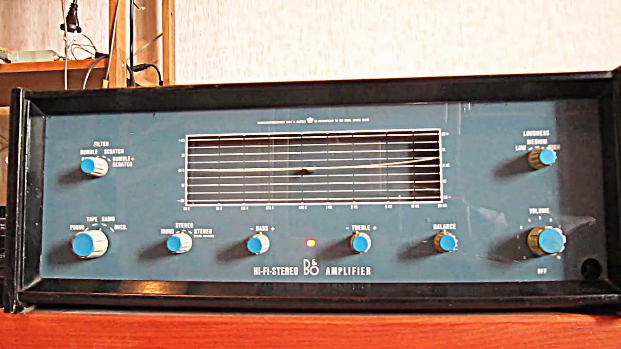 bang andamp olufsen stereo system bang olufsen 608 tubetransistor amplifier youtube