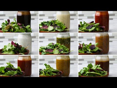 Mason Jar Salad Dressing 9 Ways