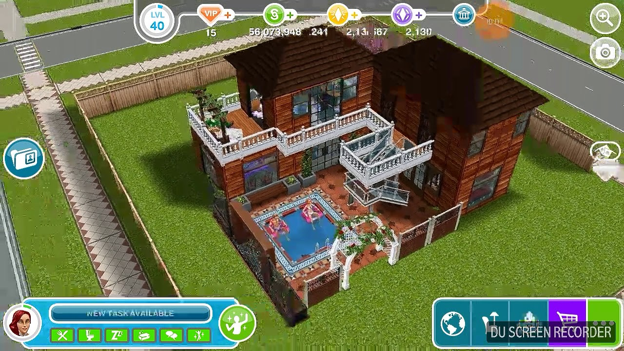 The Sims Freeplay - Rumah Minimalis Lantai 1 & The Sims Freeplay - Rumah Minimalis Lantai 1 - YouTube