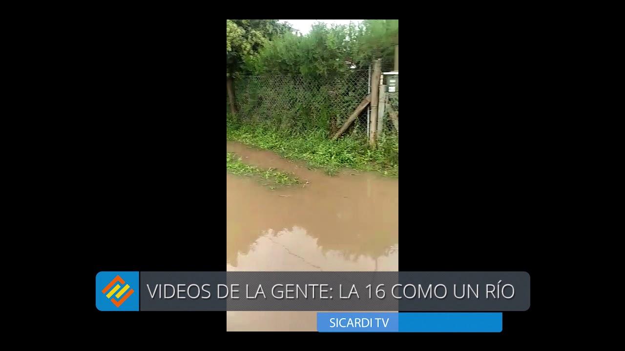 Videos de la gente: la 16 como un río