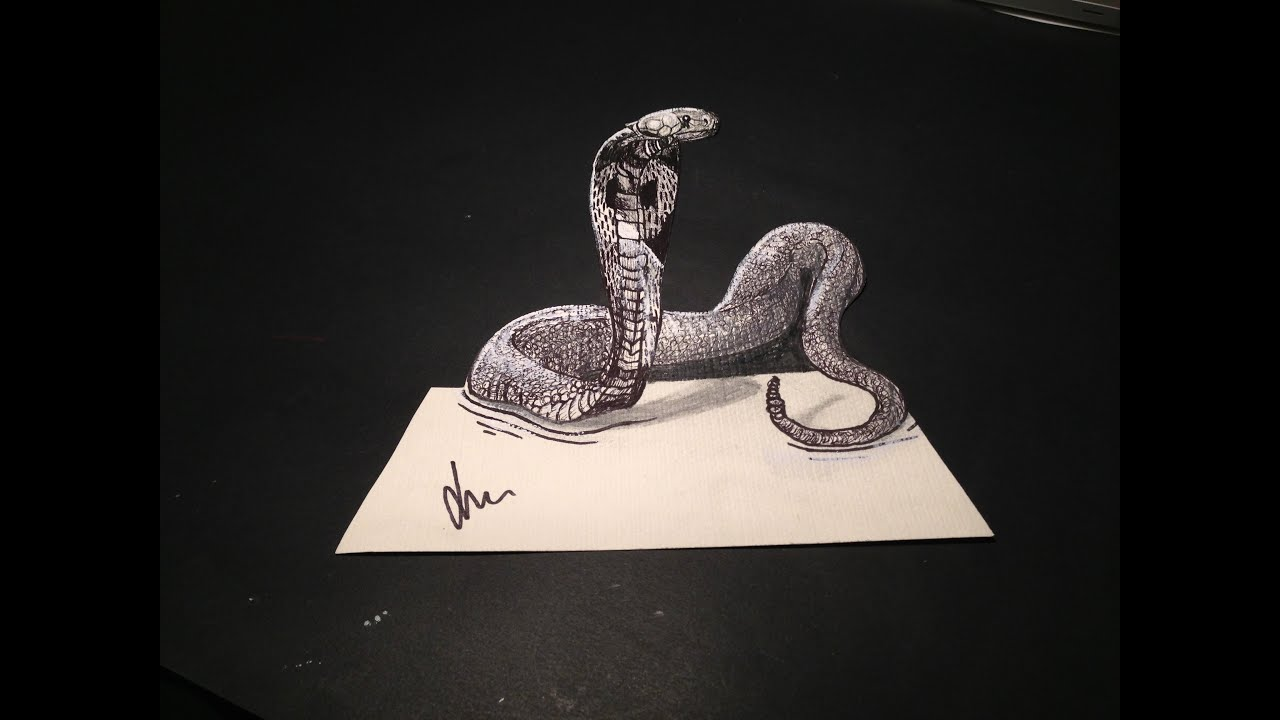 Efecto ptico de dibujo cobra 3d truco f cil youtube - Efectos opticos youtube ...