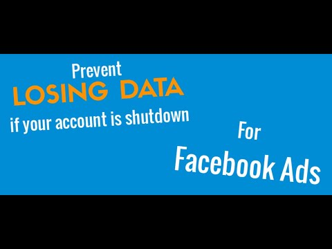 Prevent losing data if your Facebook ad account gets shutdown
