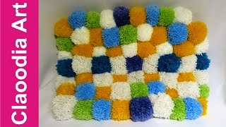 Dywan z pomponów (Carpet with pompoms, DIY)