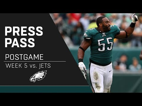 Brandon Graham & More React to the Eagles' Win Over the Jets | Eagles Press Pass