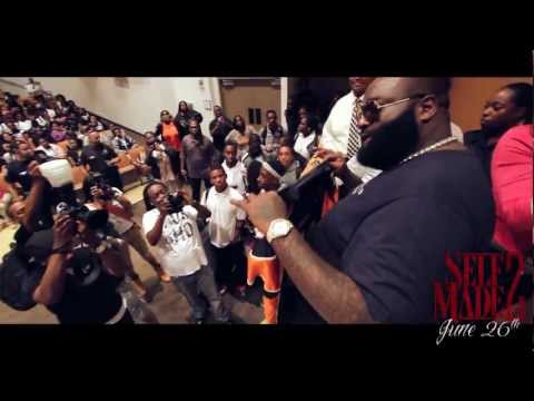 Giving Back: Rick Ross Goes Back To His High School In Miami With Swizz Beatz & Donates iPads And Reeboks!