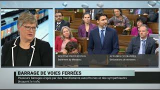 Blocus ferroviaires : le gouvernement mise sur le dialogue – Daniel Béland et Geneviève Tellier