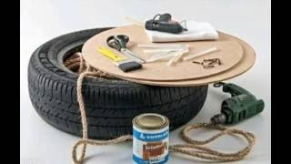 DIY Tire Ottoman - How To Make Rope Ottoman with a Used Tire