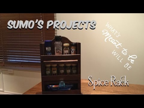 Make an Easy Build Spice Rack