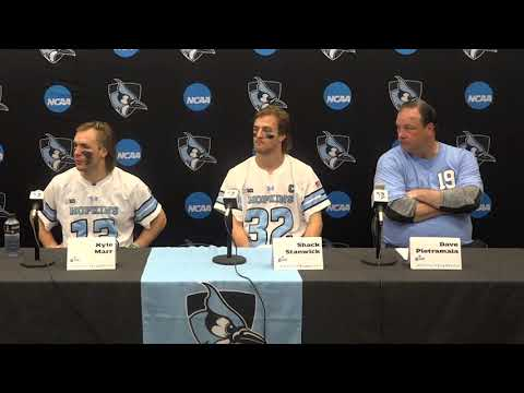 NCAA First Round: Johns Hopkins 10 - Georgetown - 9   Johns Hopkins Press Conference