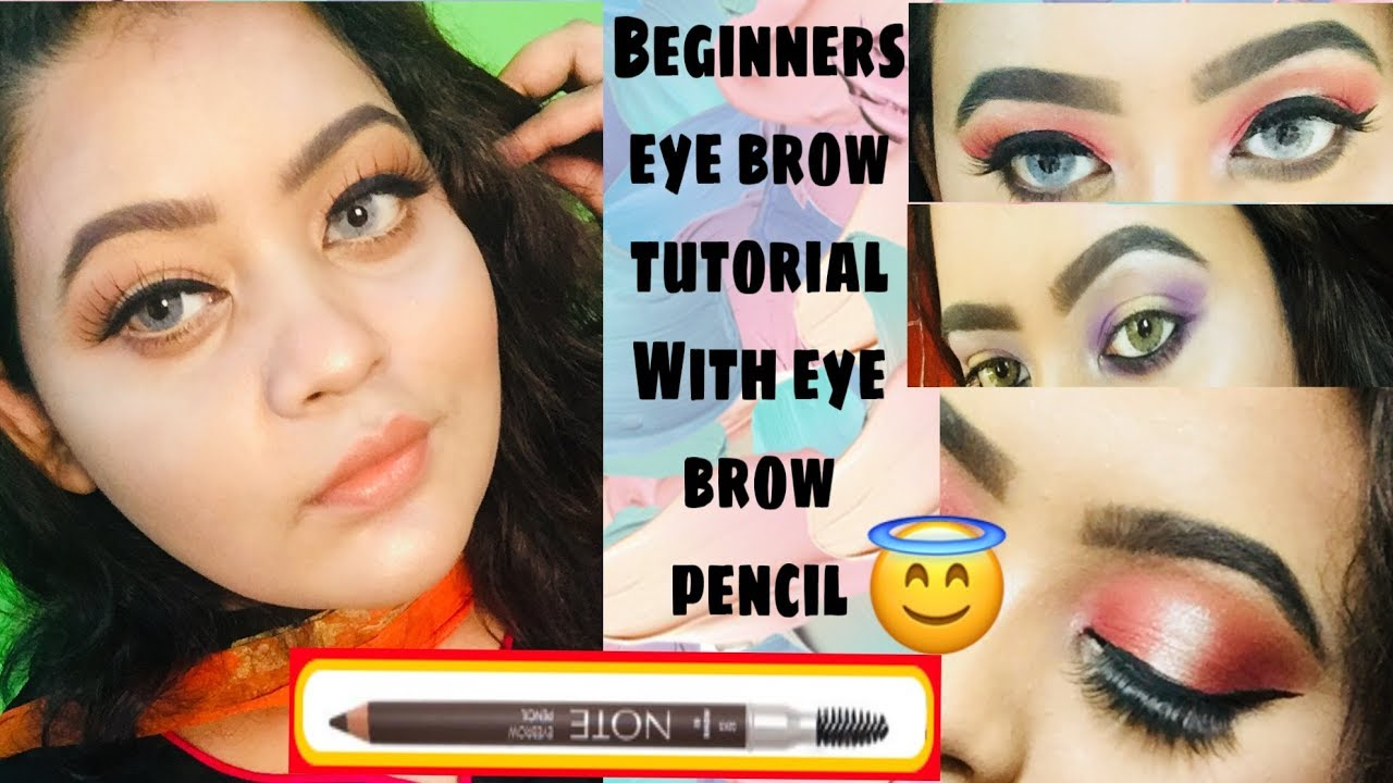 Beginners special|| eye brow tutorial with eyebrow pencil ...