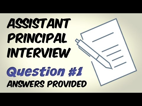 Assistant Principal Interview Question 1 - YouTube