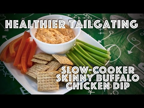 A Healthier Tailgate Slow Cooker Skinny Buffalo Chicken Dip Recipe