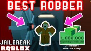 THE BEST TRAIN ROBBER IN JAILBREAK! - Roblox Jailbreak Highest Bounty Challenge