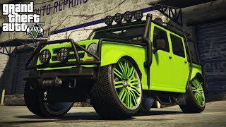 LOWERING & STANCING THE MERRYWEATHER JEEP! (GTA 5 PC Mods)