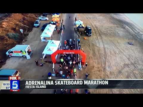 Adrenalina Skateboard Marathon 2017 on Fox5 News