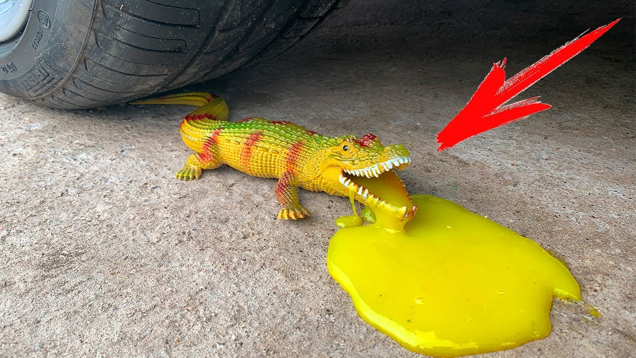 Download Crushing Crunchy & Soft Things by Car. EXPERIMENT: CAR vs CROCODILE (Toy & Slime)