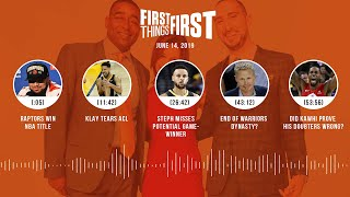First Things First audio podcast(6.14.19)Cris Carter, Nick Wright, Jenna Wolfe | FIRST THINGS FIRST