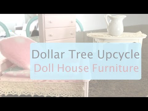 Dollar Tree Doll House Furniture Upcycle