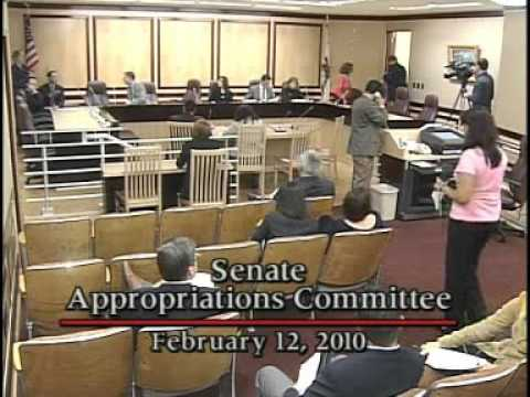 Senate Appropriations Committee 2/12/2010