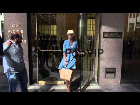 Beth Ostrosky Stern exits the McGraw-Hill building in New...