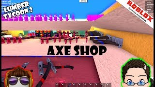 Roblox - Lumber Tycoon 2 - Axe Shop Shelves completed