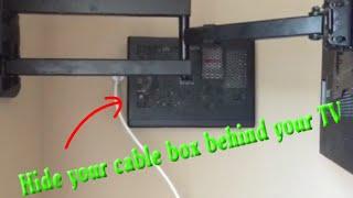 Hide Cable Verizon Box behind TV on Wall