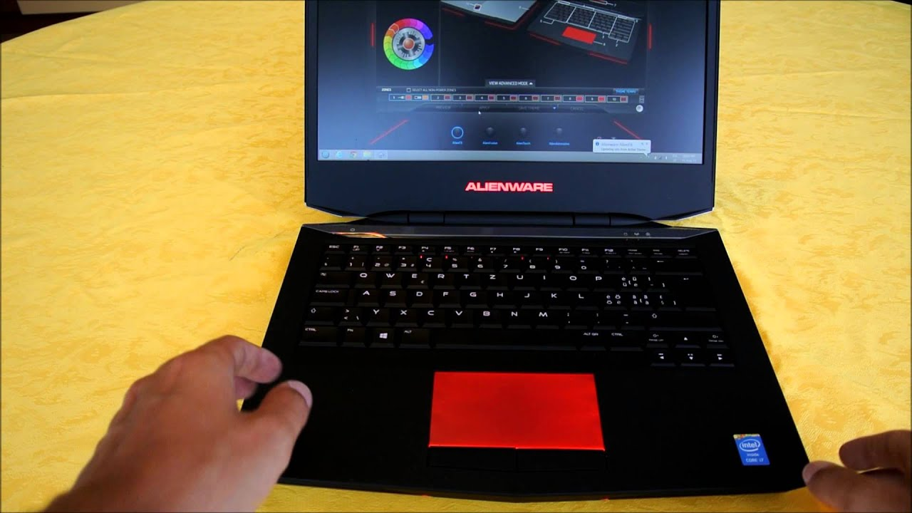 Alienware 14 Overview Alienfx And Size Comparison Youtube