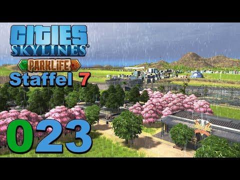 Tsunami aus Osten 🌇 [S7|023] Let's Play Cities Skylines Parklife DLC |