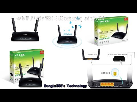 How To TP-LINK Archer MR200 4G LTE router unboxing  and review 2018