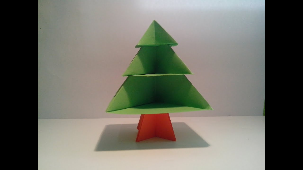 Como hacer un rbol de papel sin pegamento decoraci n - Decoracion navidad papel ...
