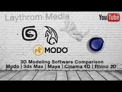 3D Software - Modo vs 3DS Max vs Maya vs Cinema 4D vs Rhino 3D