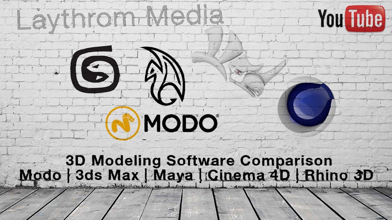 3D Software - Modo vs 3DS Max vs Maya vs Cinema 4D vs Rhino 3D