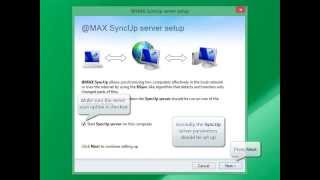 @MAX SyncUp: How to set up synchronization of two PC over the Internet directly