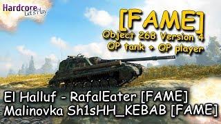 WOT: 2 x [FAME], Object 268 4, OP tank + OP player = win-win, WORLD OF TANKS