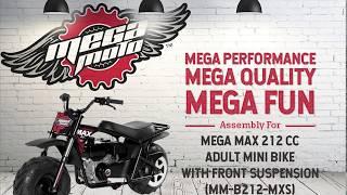MM-B212 Mega Max w/ Suspension Mini Bike Assembly Instructions