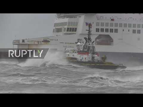 France: Passenger ferry runs aground in Calais storm